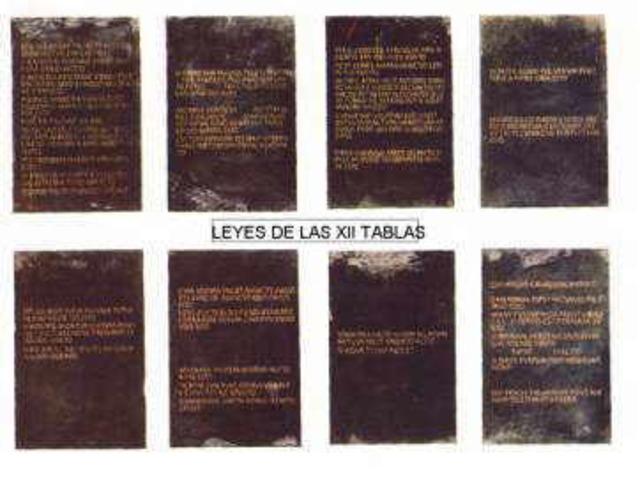 Las Leges Duodecim tabolarum (doce tablas)