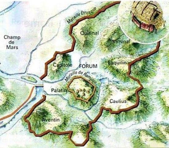 Restauración de Roma y construcción de defensas alrededor de las siete colinas (muralla Serviana)