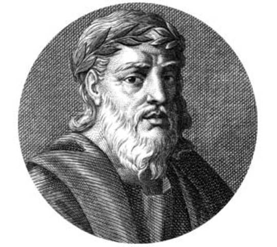 Nace Quinto Ennio, poeta latino, en el sur de Italia. Milita como centurión en Sicilia.
