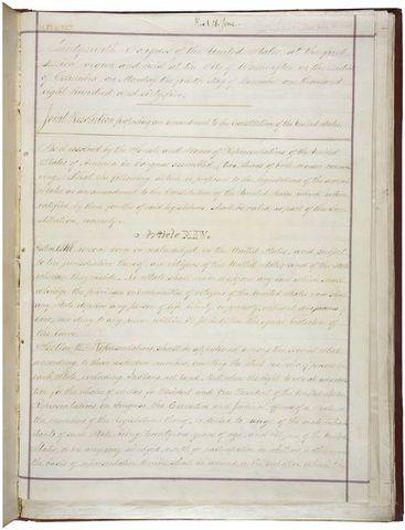 The Fourteenth Amendment is ratified