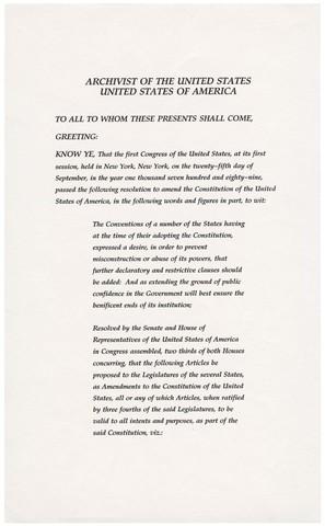 The Twenty-seventh Amendment is ratified