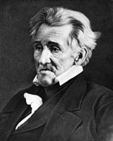 Andrew Jackson is elected president of the United States of America