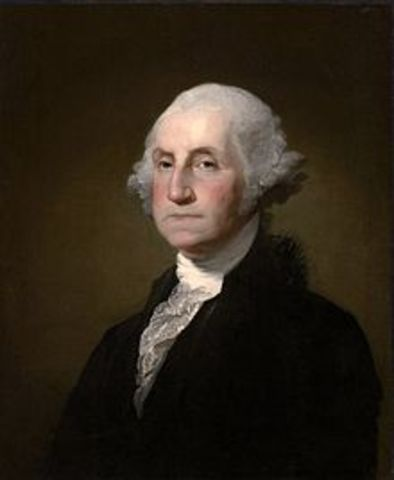George Washington becomes the first president of the USA
