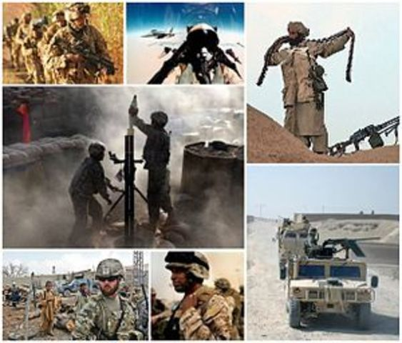 The United States launched an invasion of Afghanistan