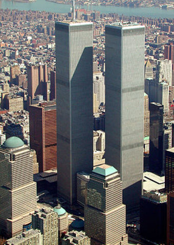 Nineteen terrorists hijacked four planes and crashed them into the World Trade Center in New York City