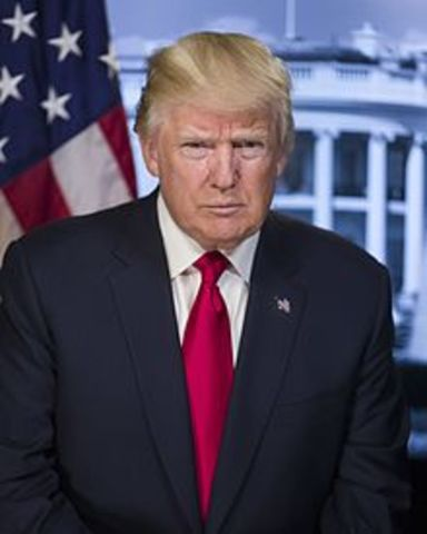 Donald Trump becomes president of the United States if America