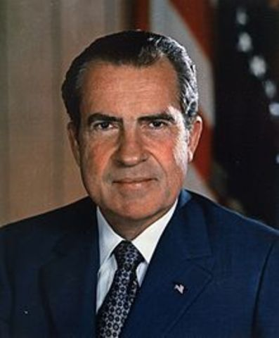 President Richard Nixon is the first president to resign from office