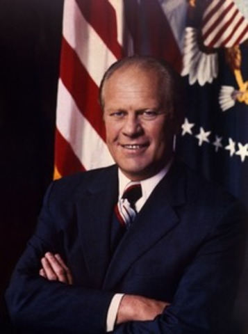 Vice President Gerald Ford is sworn in as President after Nixon resigned