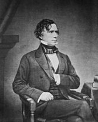 Franklin Pierce is elected president of the US