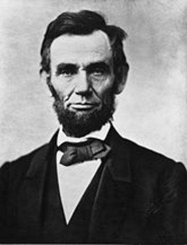 Abraham Lincoln becomes president of the United States of America