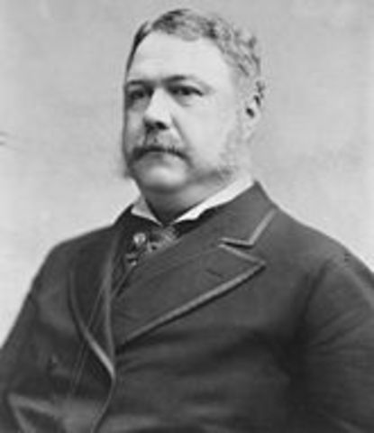 Chester A. Arthur becomes president of the USA
