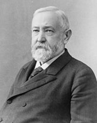 Benjamin Harrison becomes president of the USA