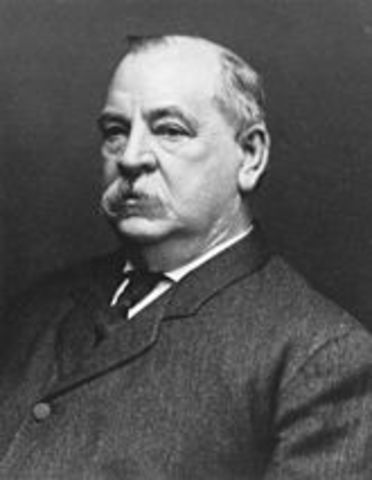 Grover Cleveland is reelected as president