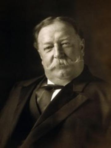 William Howard Taft is elected president