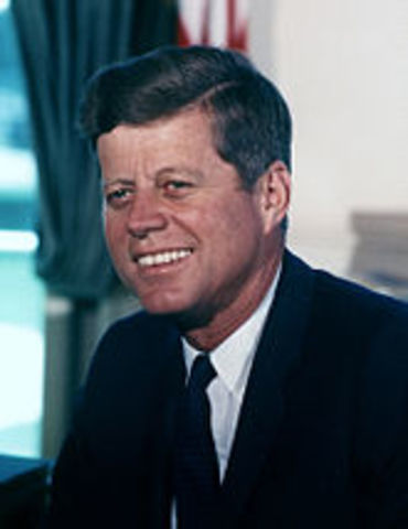 John F. Kennedy is elected president of the United States