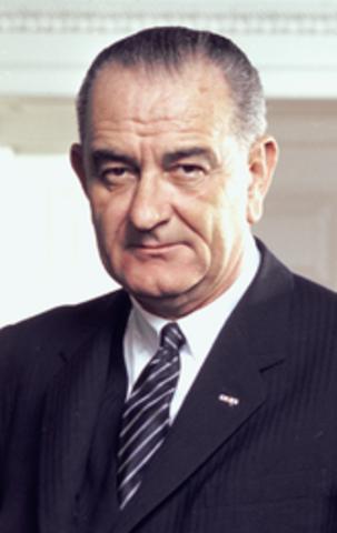 Lyndon B. Johnson is elected president