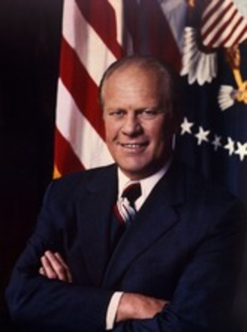 Gerald Ford is elected president of the USA