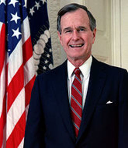 George H. W. Bush is elected president