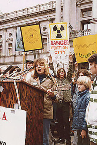 Anti-nuclear protests were held at Central Park in New York City