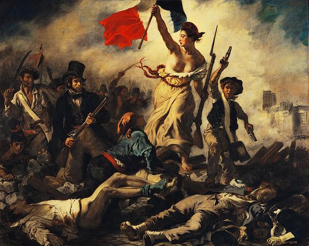 """""""La liberté guidant le peuple"""" Delacroix"""