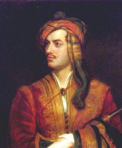 """Lord Byron in albanian dress"" Thomas Philipps"