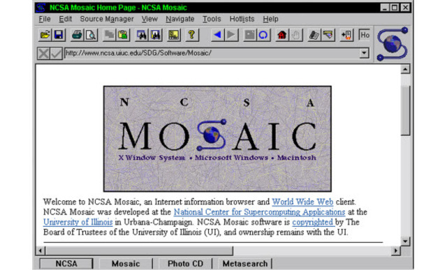 1992 Первый графический браузер