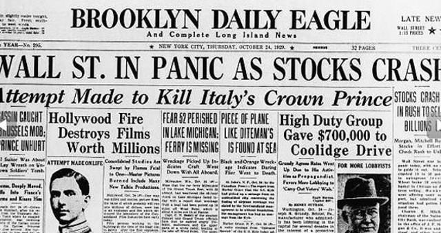 Incidencias debido a la brusca caída de la Bolsa de Nueva York
