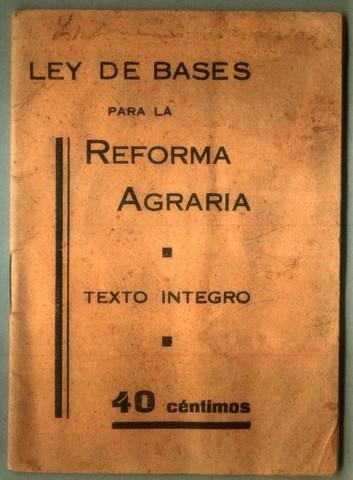 Reforma de la ley Agraria