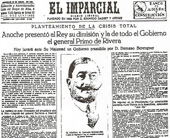 Dimisión de Primo de Rivera (1930)