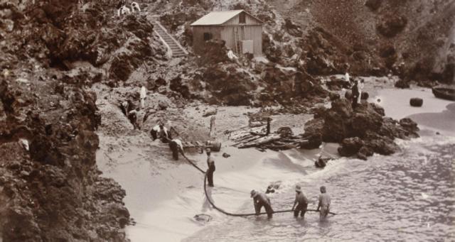 Instalación del primer cable telefónico trasatlántico