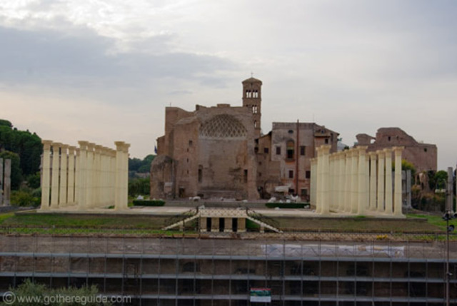 The construction of Temple of Venus and Roma was finished