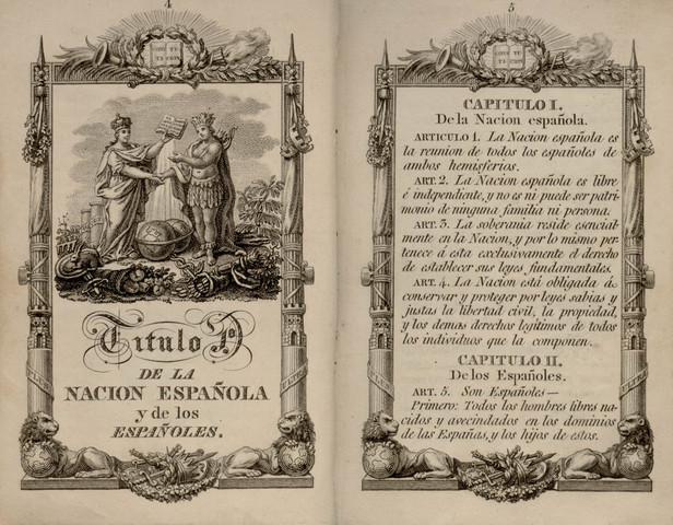 (1)First Spanish Constitution