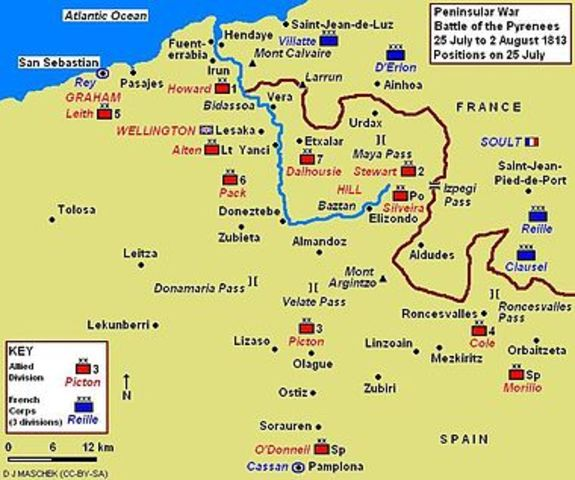 War of The Pyrenees Map