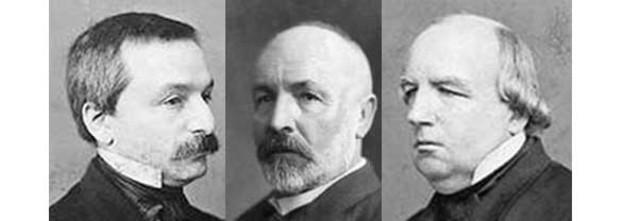 Р. Дедекинд, Г. Кантор и К. Вейерштрасс построили тремя различными способами теорию действительных чисел.