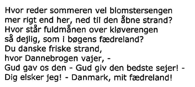 I Danmark er jeg født - strofe 2