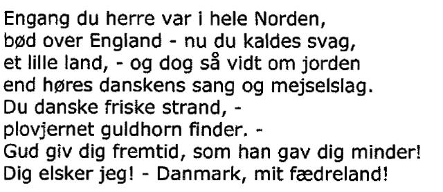 I Danmark er jeg født - Strofe 3