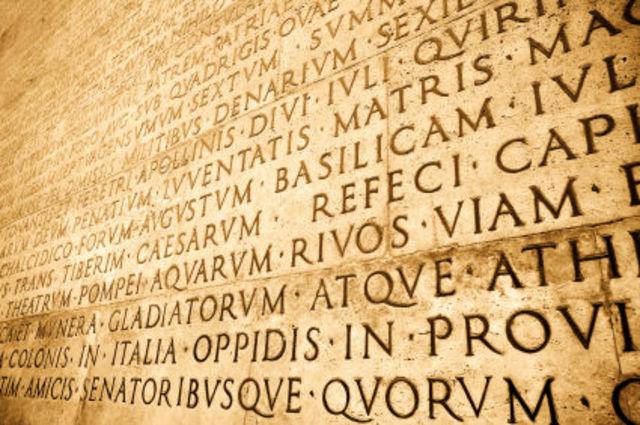 Aparición del latín
