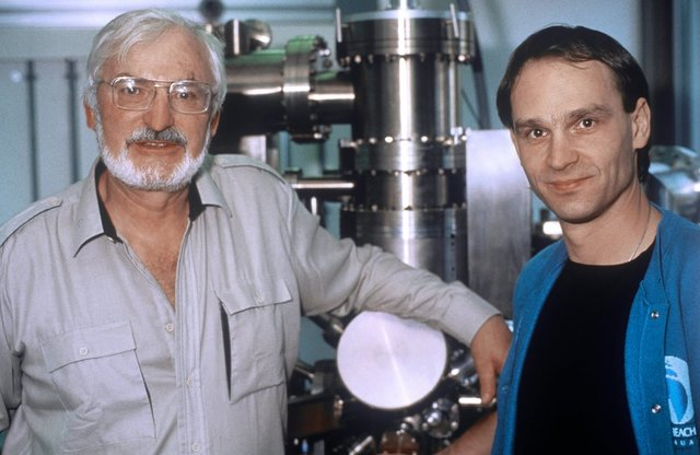 Heinrich Rohrer y Gerd Binning