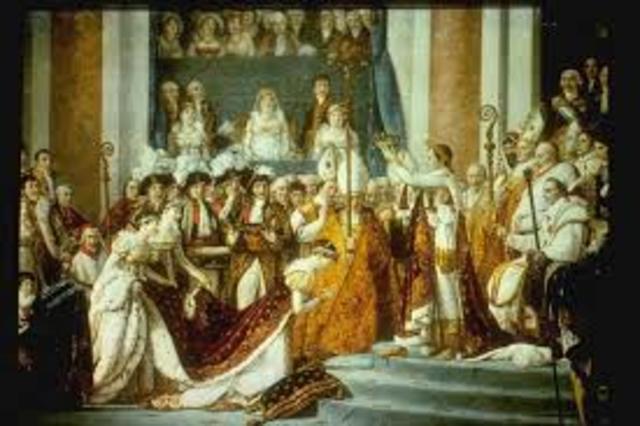 Napoleon is crown as emperor