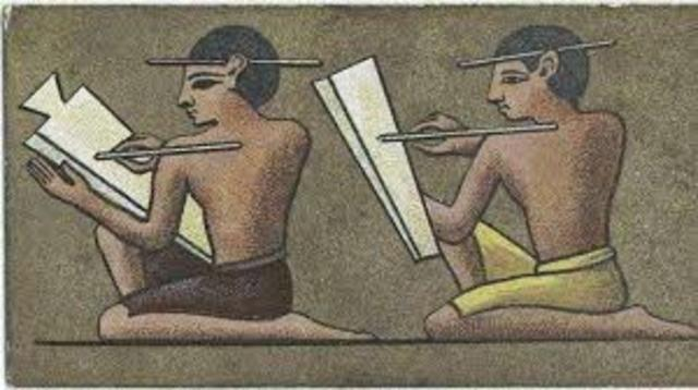 Los faraones tenían escribanos