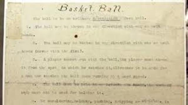 Primer Reglamento de Basquetbol