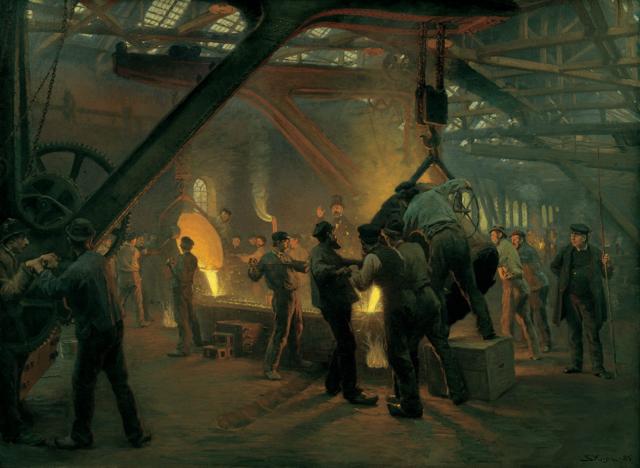 P.S Krøyer fra Burmeister & Wains jernstøberi 1884