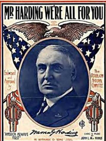 Warren G. Harding return to normalcy