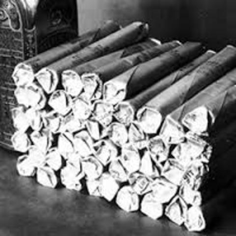 Alfred Nobel creates dynamite.