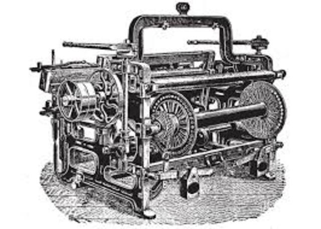 Edmund Cartwright invented the Power Loom