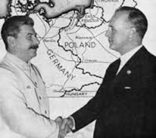 Pacte Germano-soviètic - Inici Segona Guerra Mundial