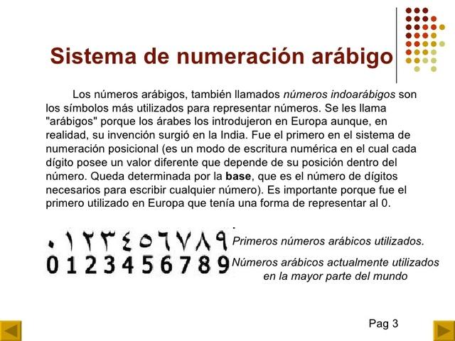 Sistema de numeración arábigo (INDIA)