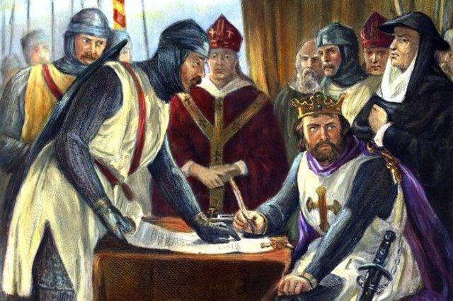 King John forced to sign Magna Carta