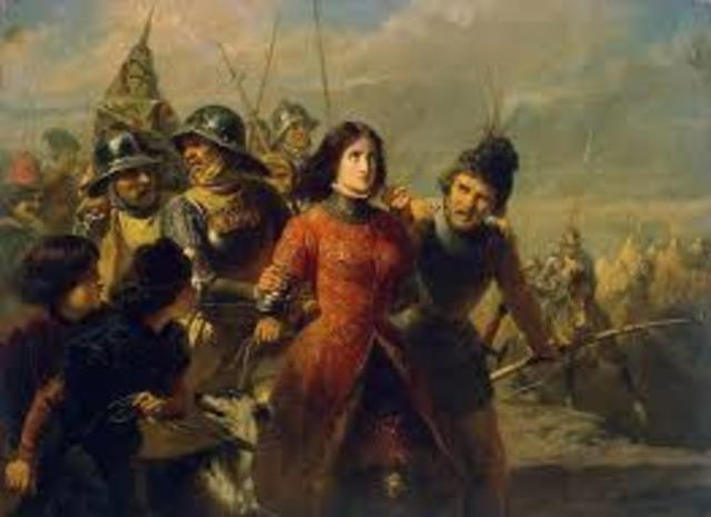 Joan of Arc is captured and taken to England