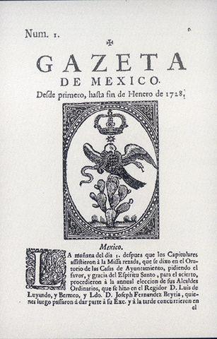 1722 – Gaceta de México